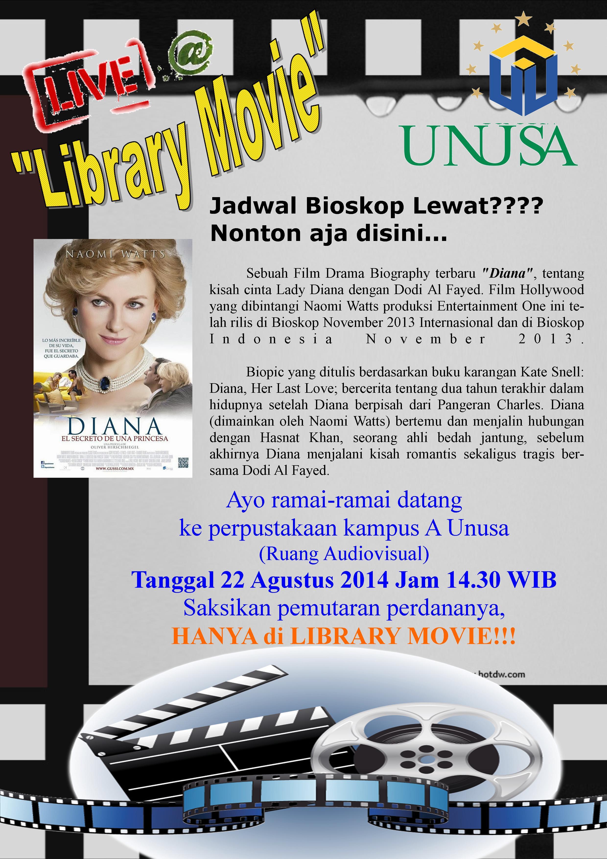 "Jadwal Film ""Library Movie"" bulan Agustus 2014"